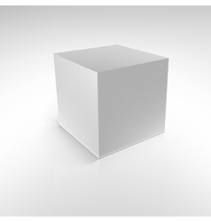 Cube with reflections and shadows vector