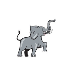 Elephant marching prancing cartoon vector