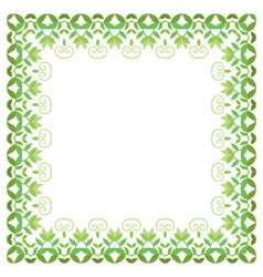 Floral frame decorative flower ornament vector
