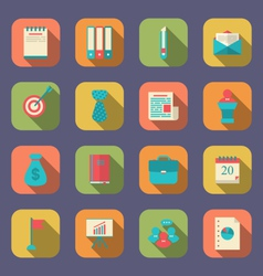 Modern flat icons of web design objects business vector