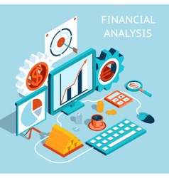 3D Financial Analysis Concept Design vector image vector image