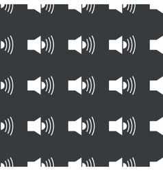 Straight black loudspeaker pattern vector