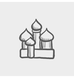 Saint basil cathedral sketch icon vector