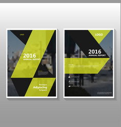 Black yellow annual report leaflet brochure vector