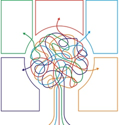 Concept of colorful tree with arrows vector