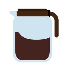 coffee beverage drink glass jar icon vector image