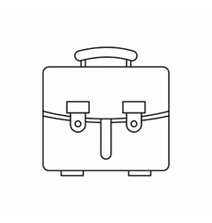 Briefcase icon in outline style vector
