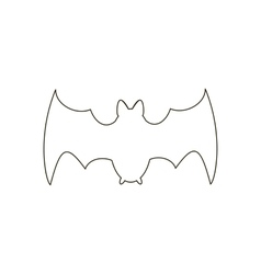 Bat path vector image