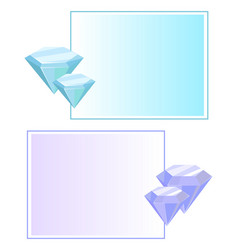 Blue purple crystals and gemstones minerals vector