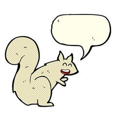 cartoon squirrel with speech bubble vector image vector image