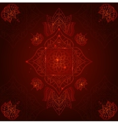 Chakra Muladhara on a Dark Red Background vector image vector image