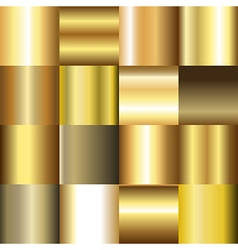 Collection of golden gradient backgrounds vector image vector image