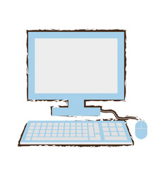 computer school learn sketch vector image