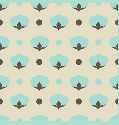 cotton flower floral seamless pattern background vector image vector image