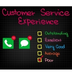 Customer service experience vector