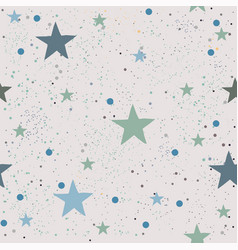 cute seamless star pattern vector image