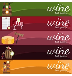 flat design of wine theme vector image