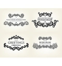 Floral frame set vector