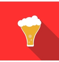 Frosty glass of beer icon flat style vector
