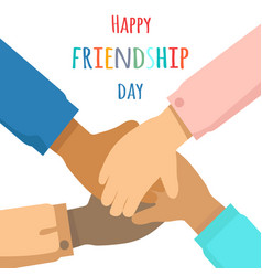 happy friendship day flat concept vector image