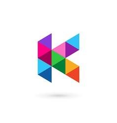 Letter K mosaic logo icon design template elements vector image vector image