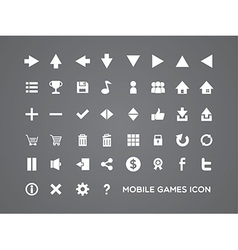 mobile games icon vector image vector image