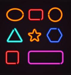neon light borders vector image vector image