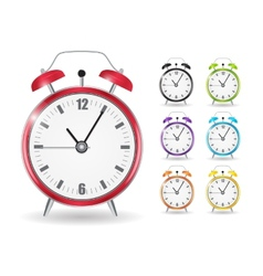 Realistic Clock Alarm Watch Set vector image vector image