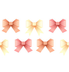 Seamless pattern with paper origami bows for your vector