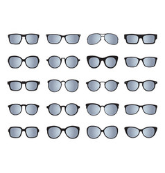 set of glasses isolated icons vector image vector image