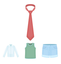 shirt with long sleeves shorts t-shirt tie vector image
