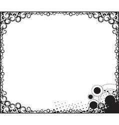swirl borde background vector image