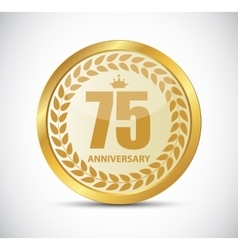 Template Logo 75 Years Anniversary vector image vector image