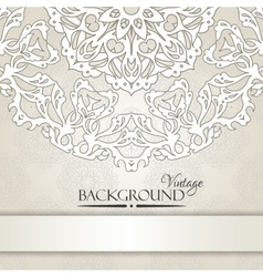 Vintage beige elegant invitation card vector
