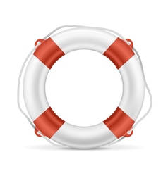 White Lifebuoy vector image vector image