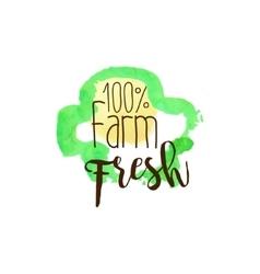 Percent farm fresh products promo sign vector