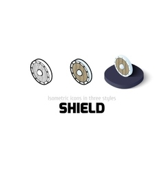 Shield icon in different style vector