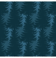 Layered pine forest seamless pattern vector