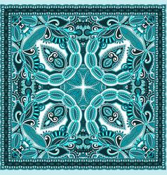 Paisley bandanna to print on fabric vector