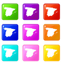 Map of spain set 9 vector