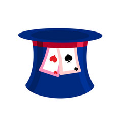 Hat mad hatter isolated clothing accessories vector