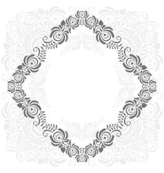 Grey and white vintage frame vector