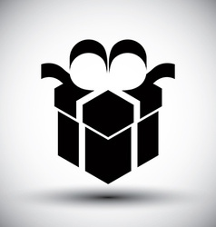 Gift box simple single color new idea symbol vector