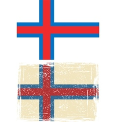 Faroe islands grunge flag vector