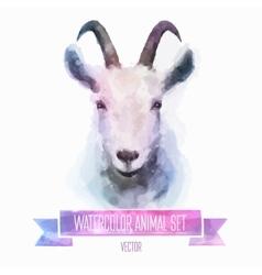 set of watercolor  Cute goat vector image