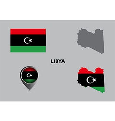 Map of libya and symbol vector