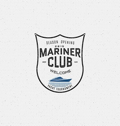 Mariner club badges logos and labels for any use vector