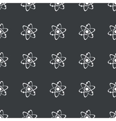 Straight black atom pattern vector
