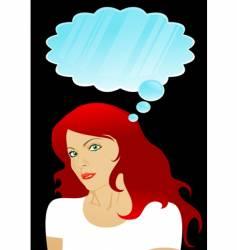 girl thinking vector image