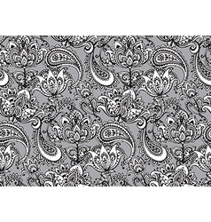 seamless pattern with hand drawn Henna design vector image